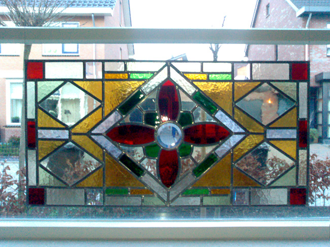Onwijs Glas in lood ramen, voorzetramen & raamhangers IT-11