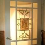 brandschilderen glas in lood deur