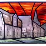 gebrandschilderd glas in lood denekamp