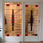 glas in lood ramen schuifdeuren
