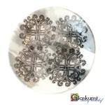 glas kunst schaal zeefdruk