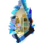 glasfusing spiegel blauw