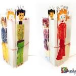 glaskunst lampje poppetjes