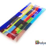 schaal rechthoek gekleurd glasfusing